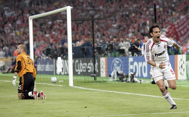Image result for pippo inzaghi champions league goal vs liverpool